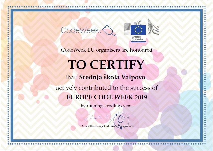 EUROPSKI TJEDAN PROGRAMIRANJA (EU Code Week)