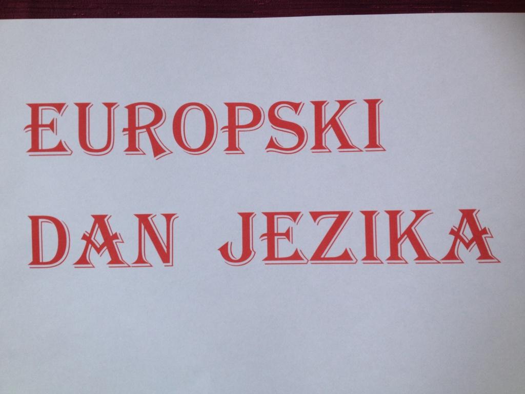 OBILJEŽAVANJE EUROPSKOGA DANA JEZIKA